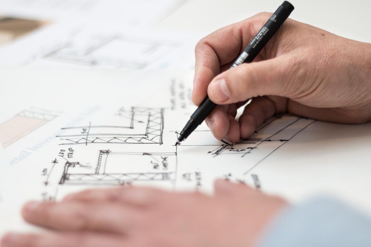 architect sketch close