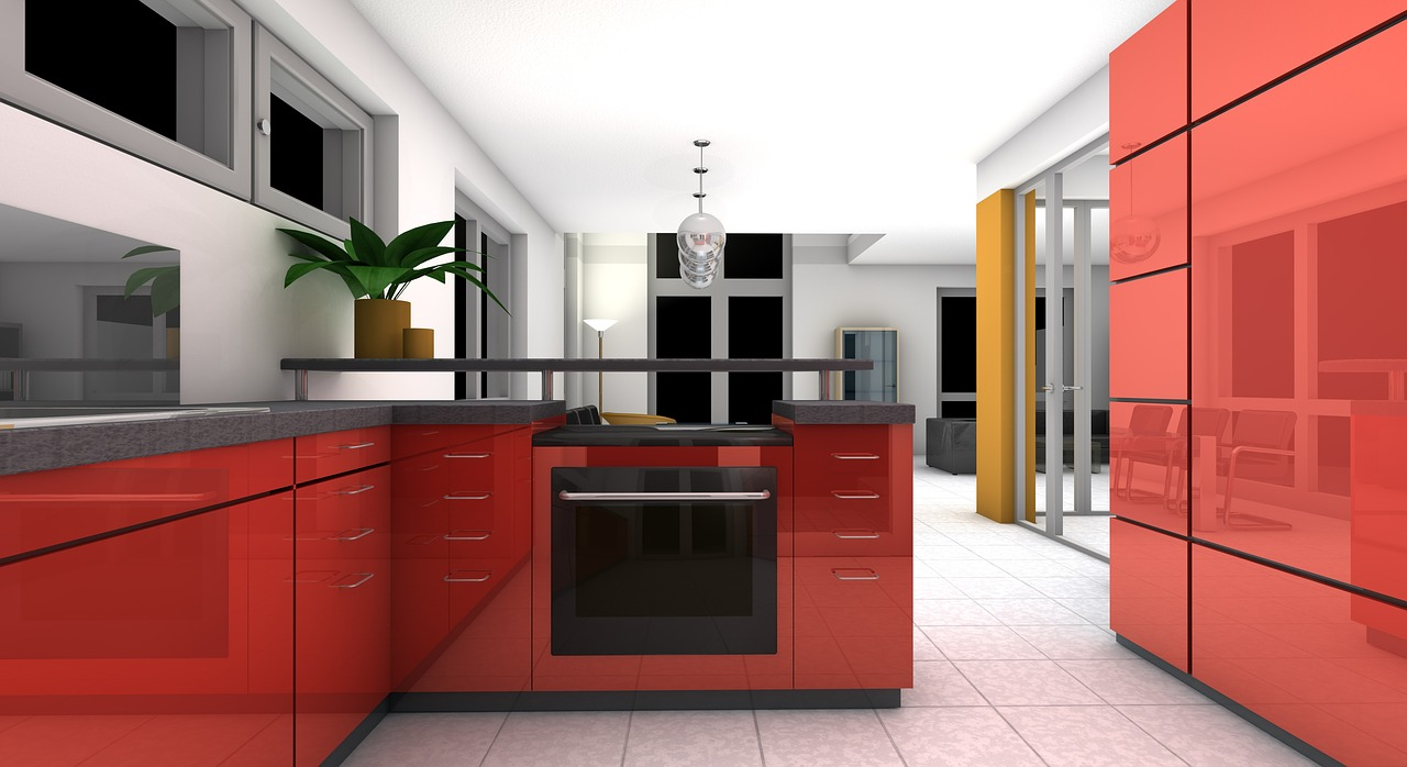 minimalist kitchen rendering