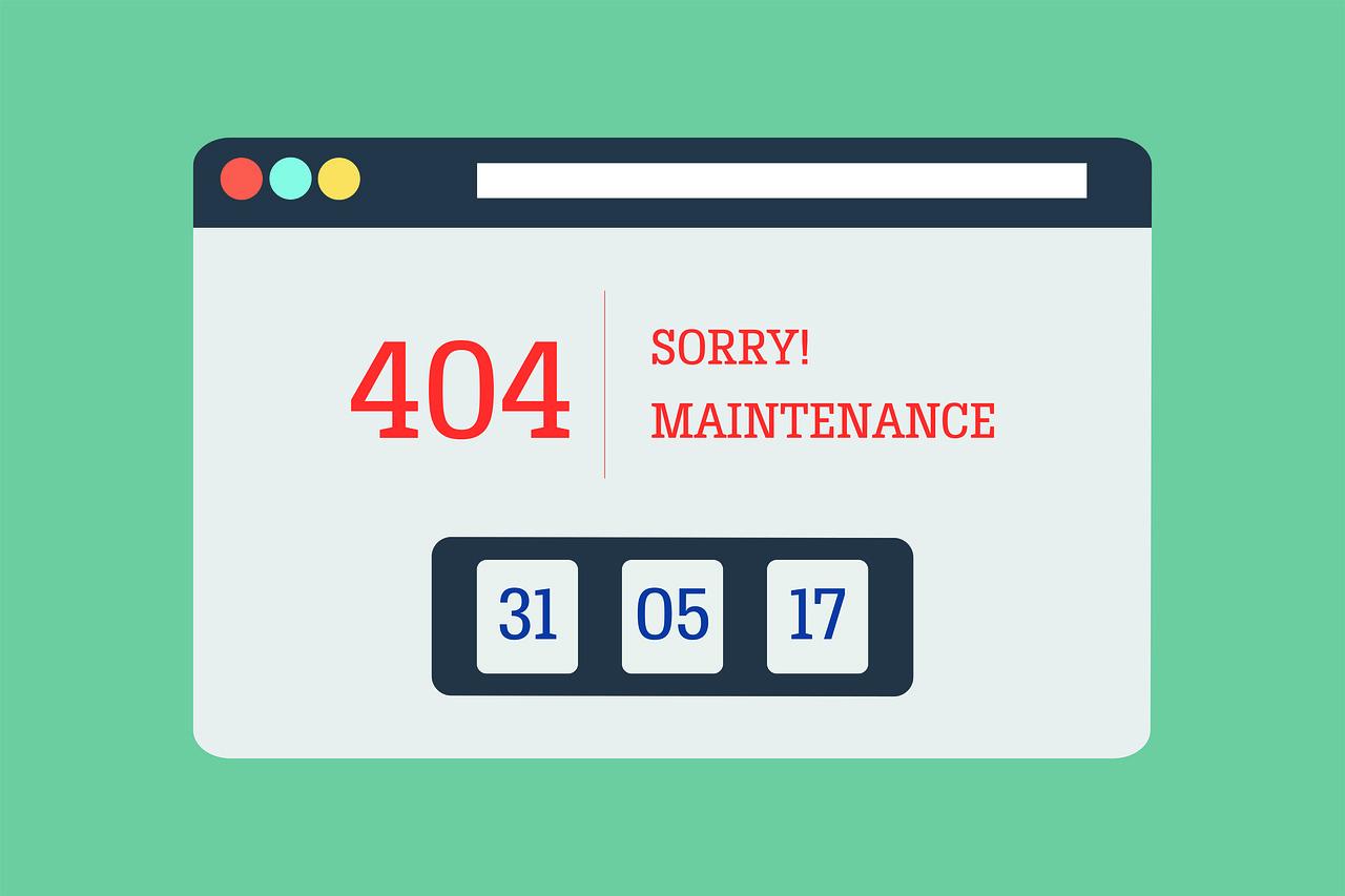 error 404 website