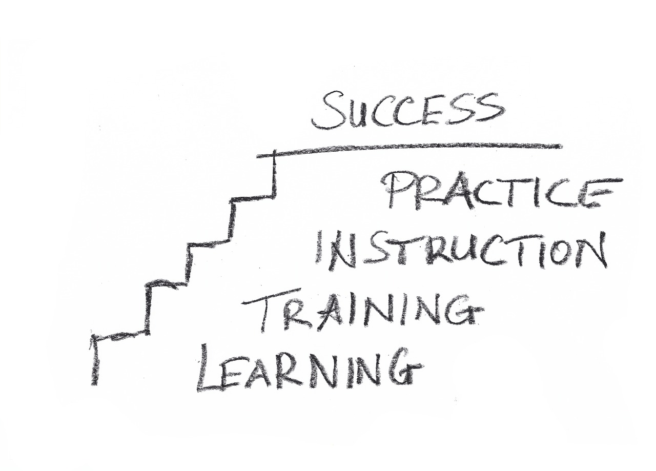 business success stairs